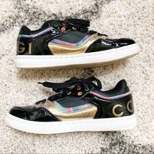 COOGI Australia Low Top Shoes Black Gold Sneakers